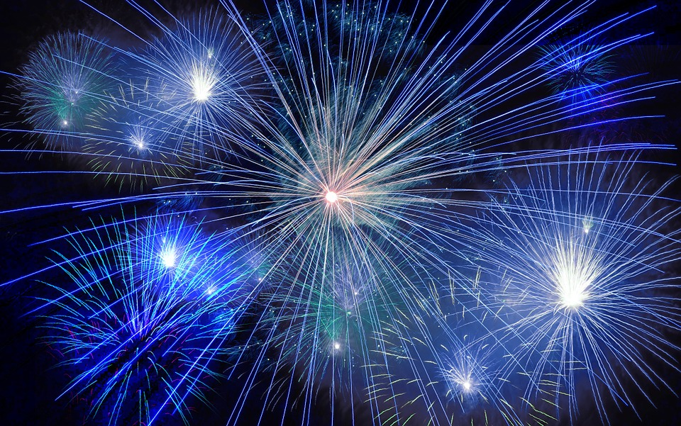 fireworks, rocket, new year\'s day