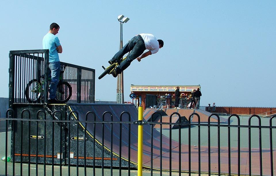 bmx, jump, bike