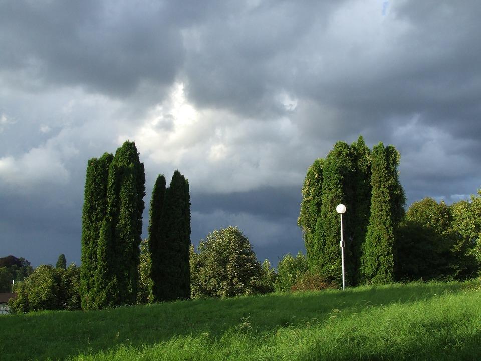 thunderstorm, wolkenwand, threatening