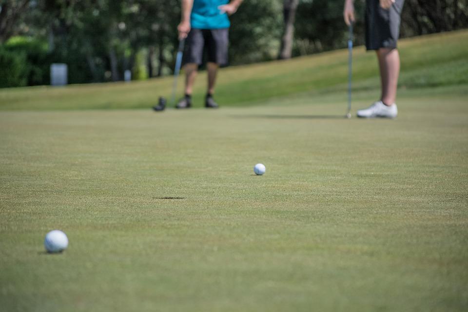 golf, playing, game