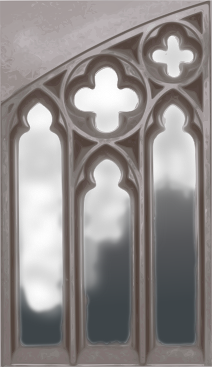 gothic, window, church
