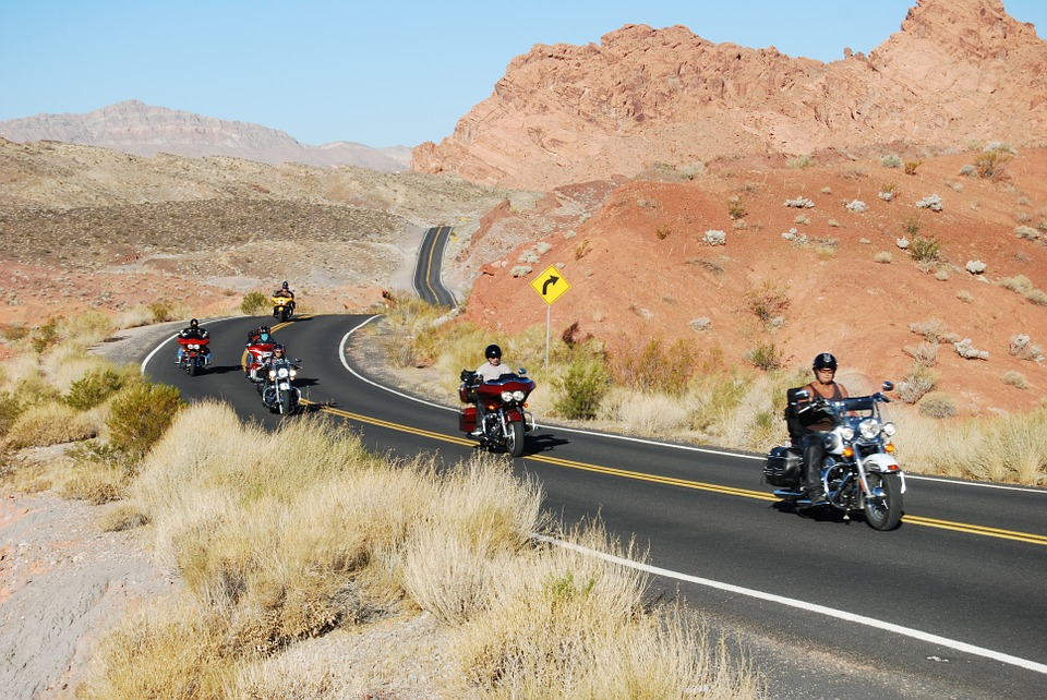 usa, motorcycle, desert