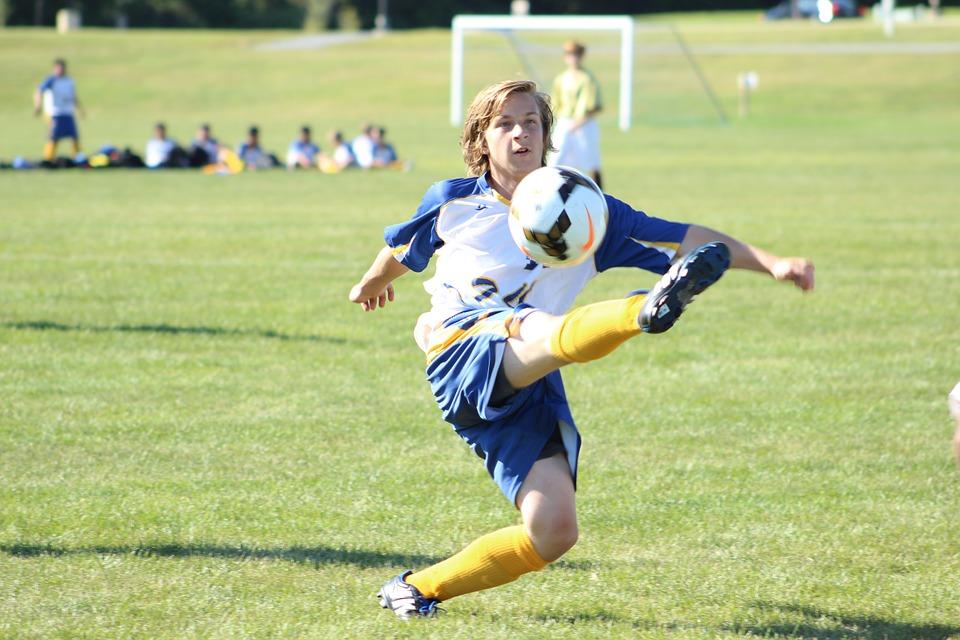 soccer, ball, kick