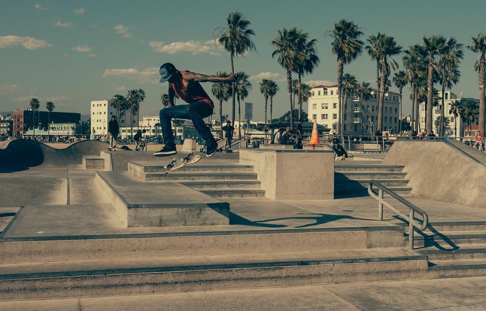 skateboard, boarder, urban
