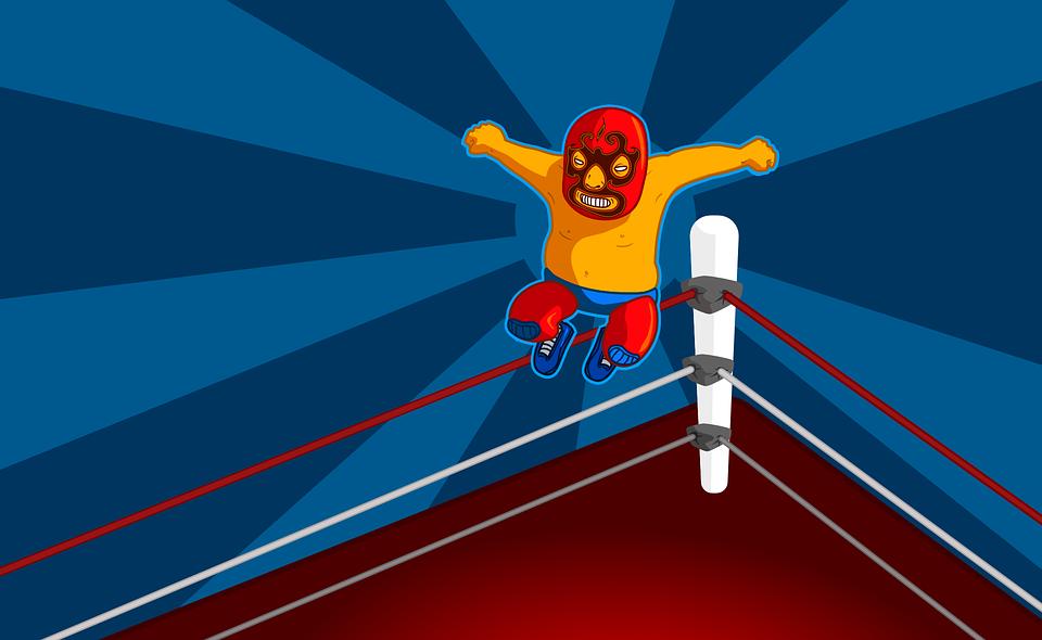 boxing ring, wrestling, wrestler