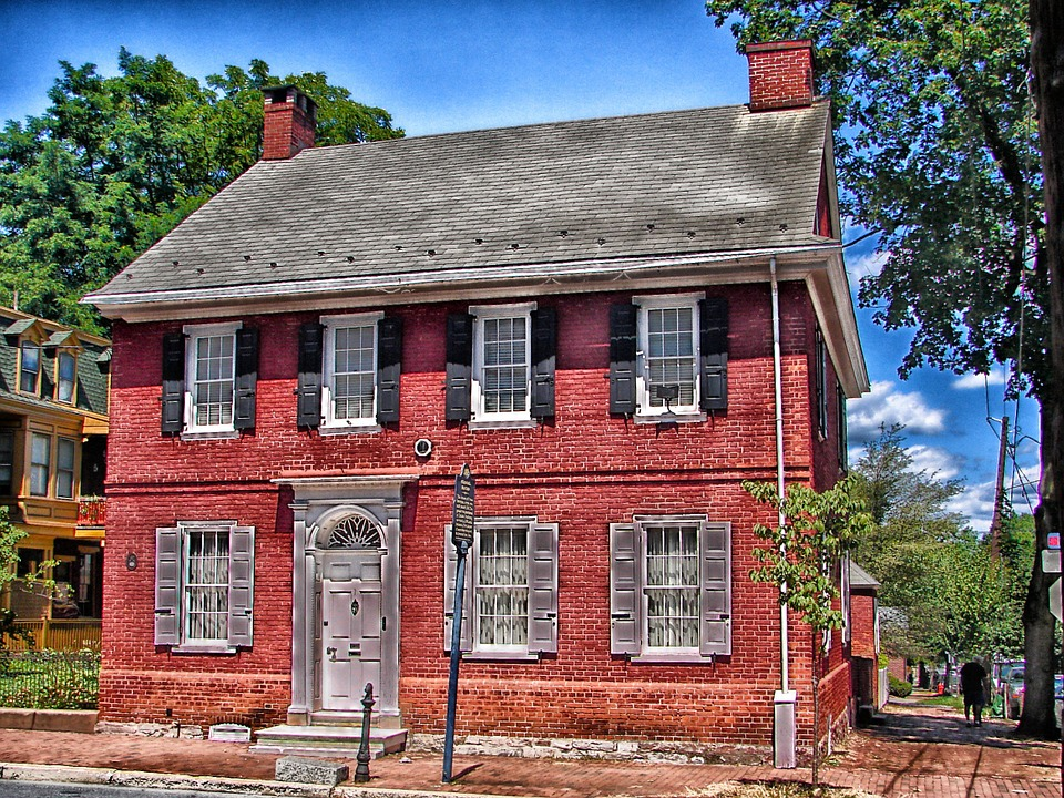 lancaster, pennsylvania, colonial house