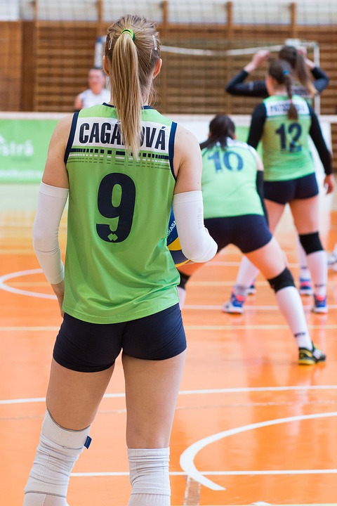 volleyball, girl, sport