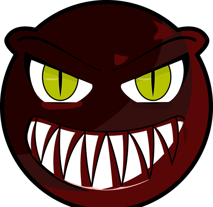 angry, smiley face, expression