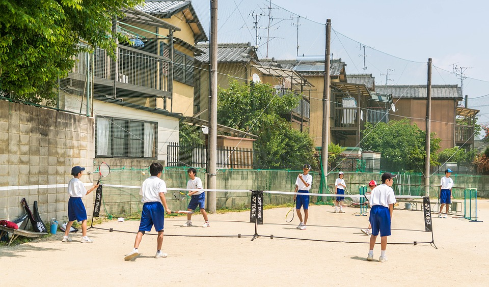 japan, school, tennis