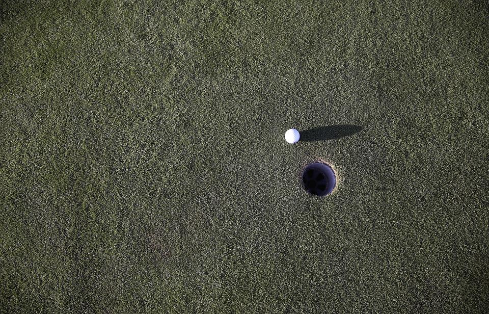 golf, hole, eingelocht