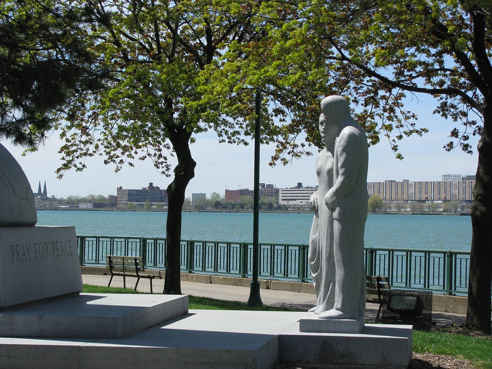 park, memorial, riverfront