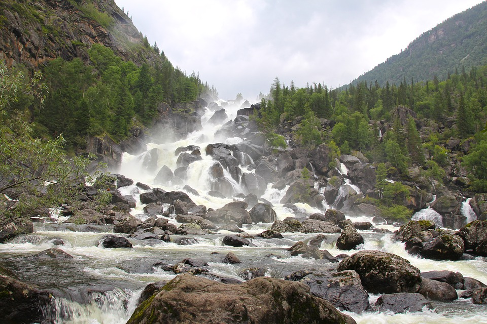 waterfall, altai, discovering of the waterfall