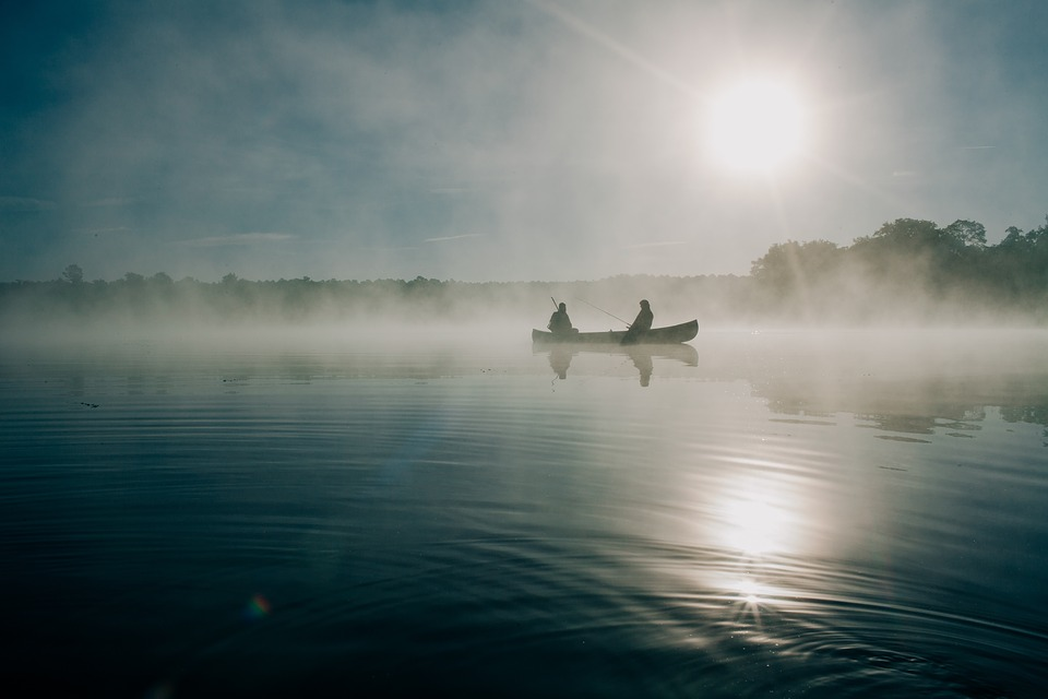 fishing, boat, people