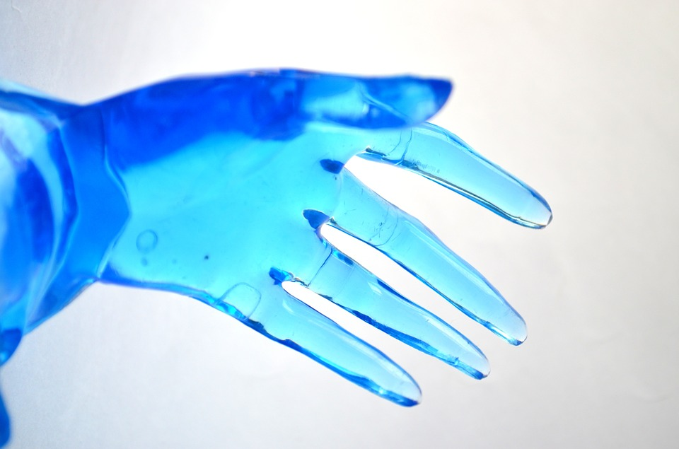 hand, plastic, model