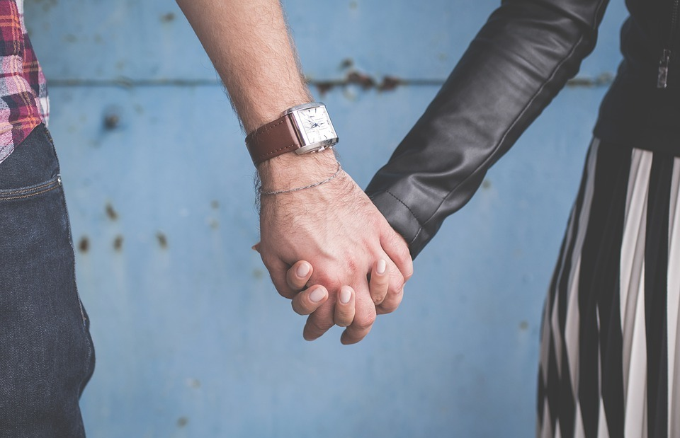 affection, couple, fingers