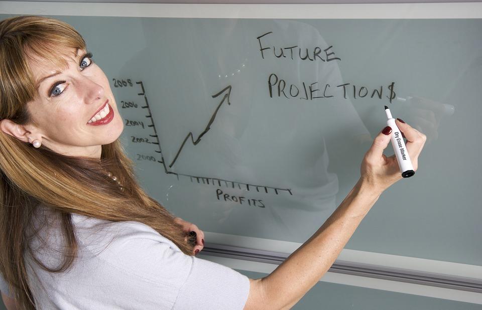 smiling, teacher, female