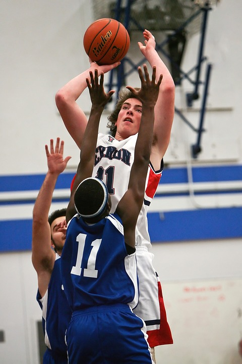basketball, player, jump shot