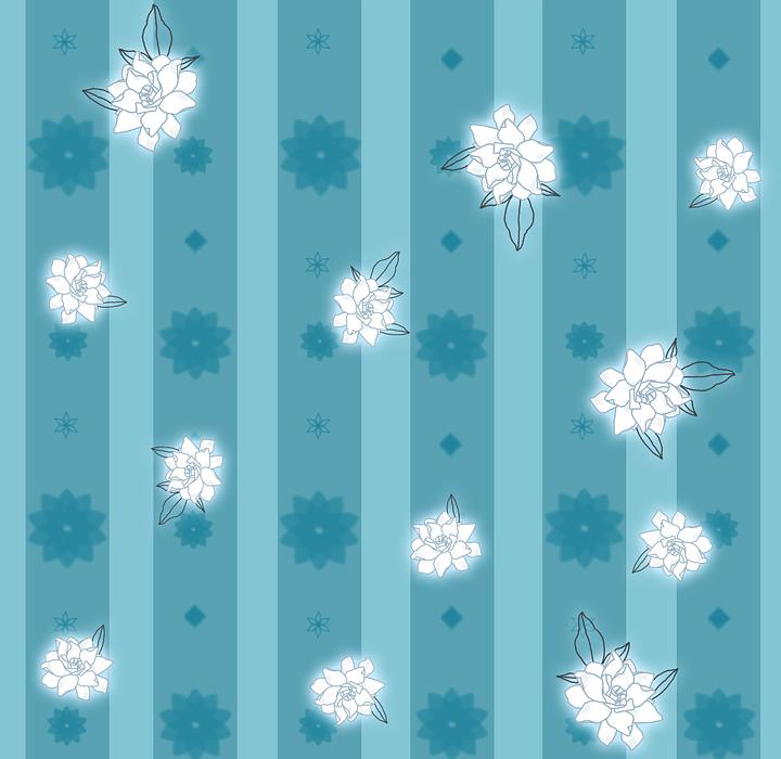 gardenia, flowers, white