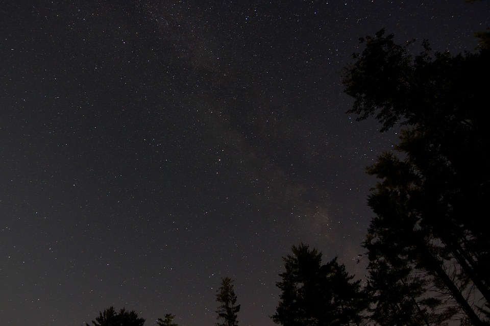 stars, night, universe