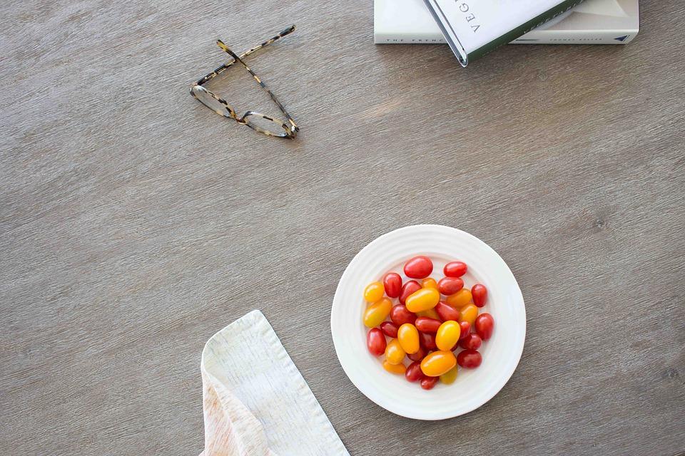 food, dish, table