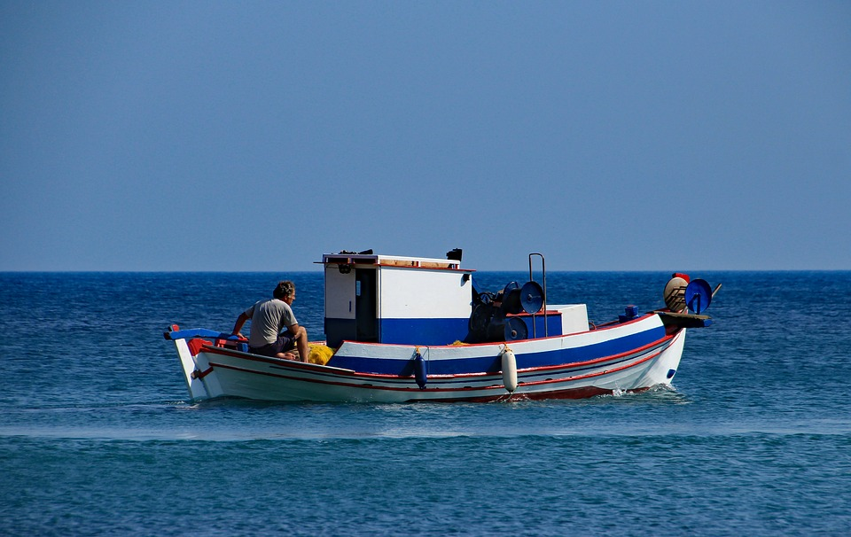 greece, samos, fishing boat