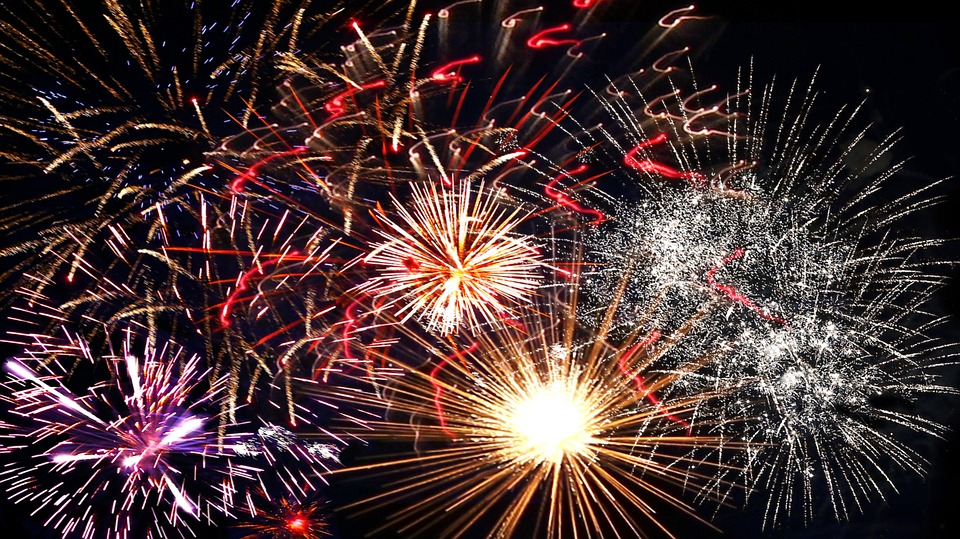fireworks, new year\'s eve, annual financial statements