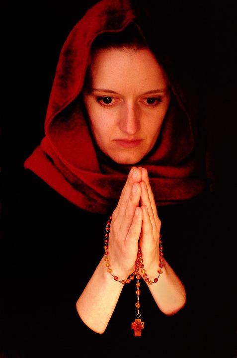 woman, people, prayer