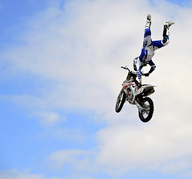 motorcycle, stunt, dirt bike