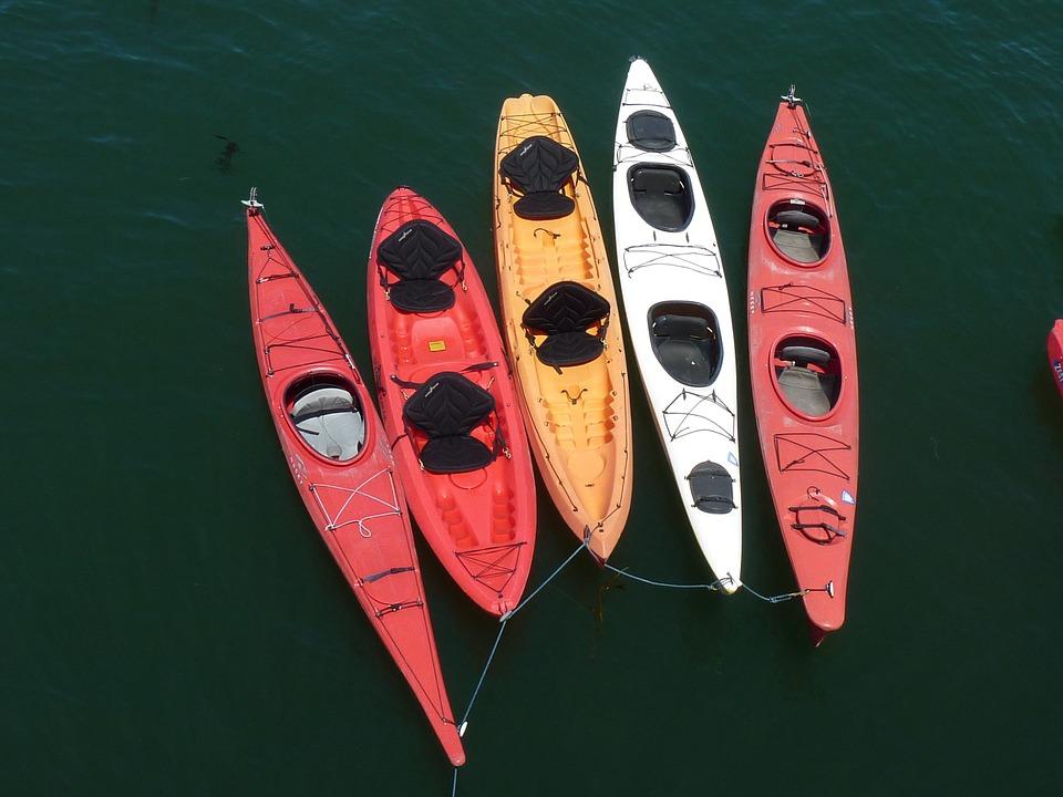 kayaks, santa cruz beach, canoe