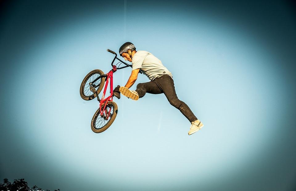bmx, sports, jump