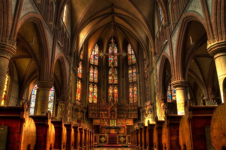 church, altar, mass