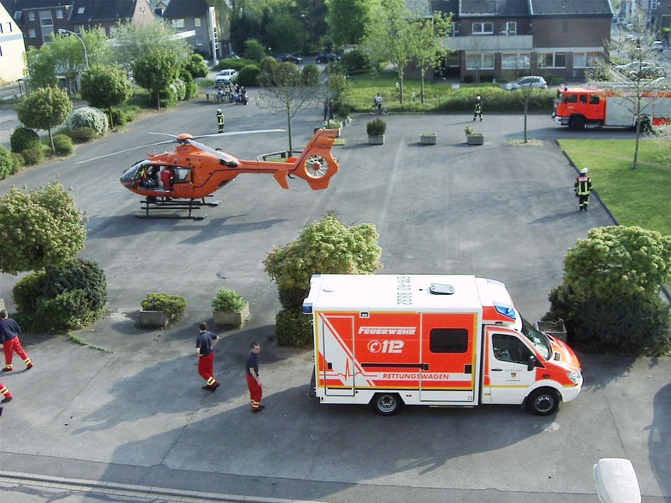 ambulance, doctor on call, ambulance helicopter