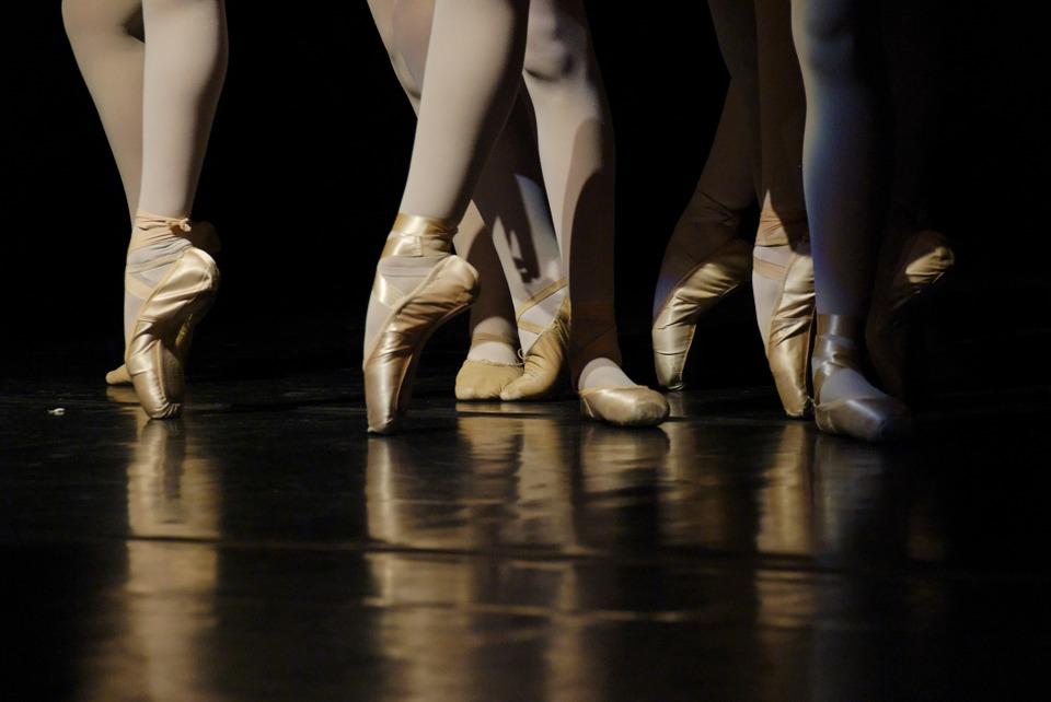 ballet, dancers, foot