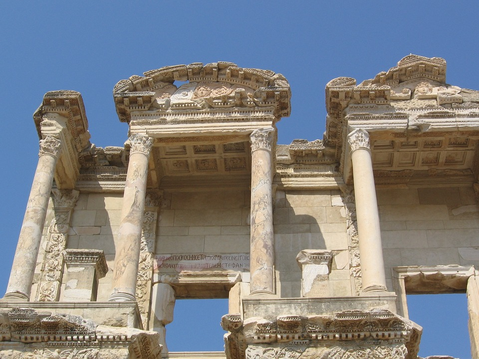 library, ephesus, classical architecture