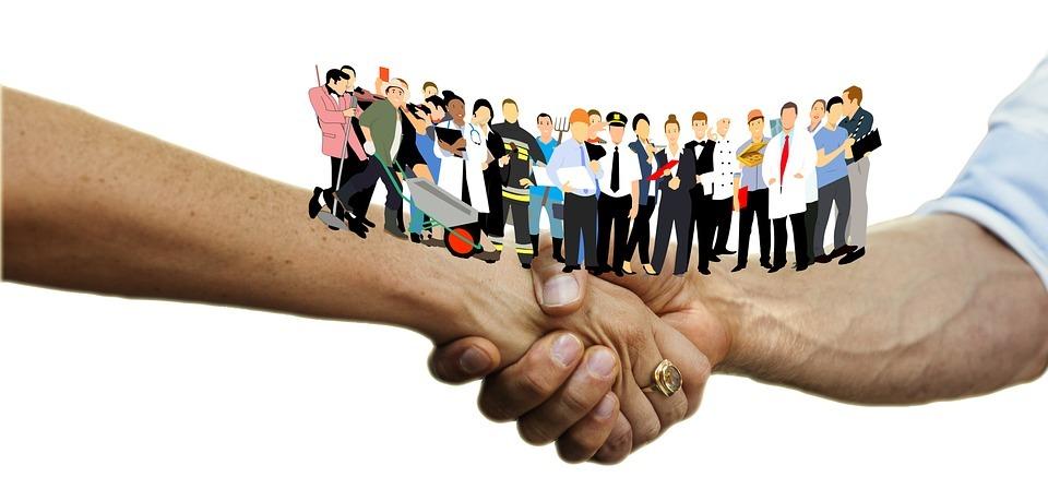 handshake, office, business
