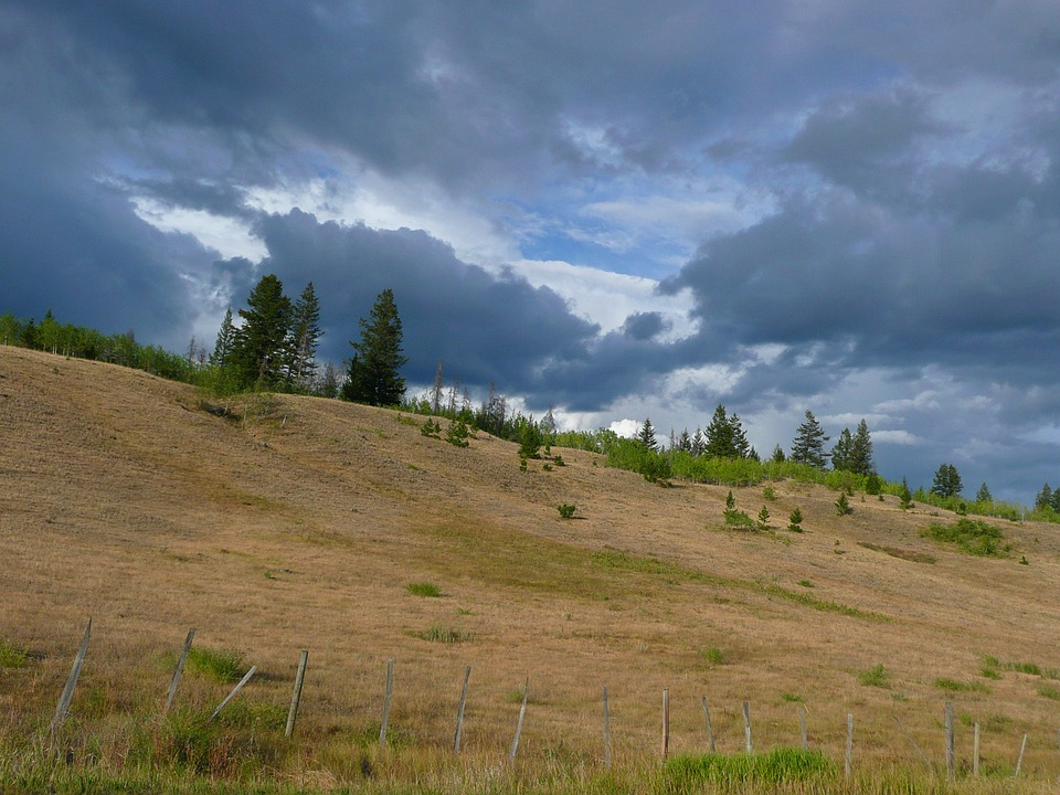 thunderstorm, dark clouds, weather