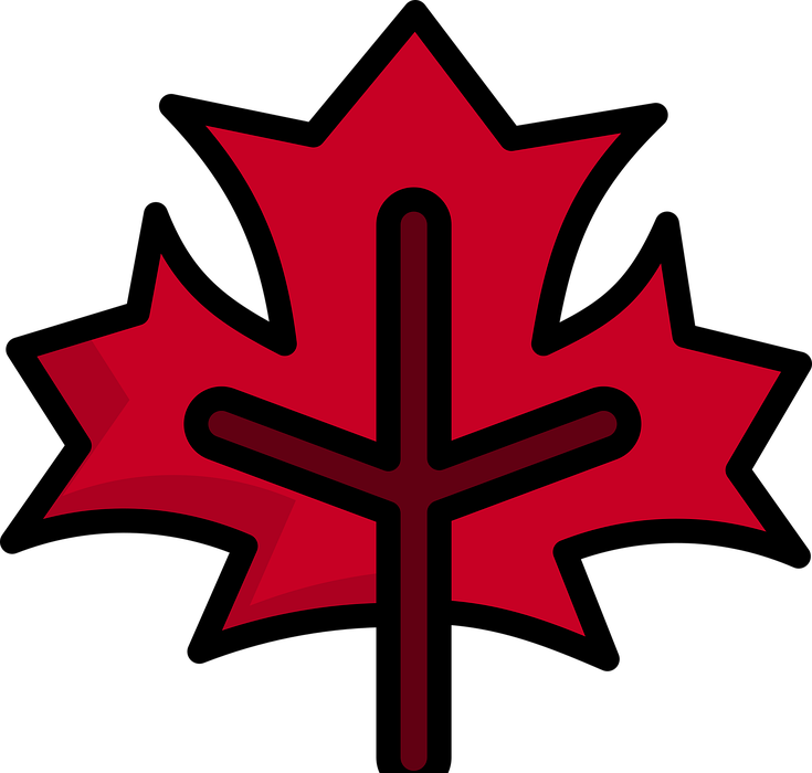 symbol, canadian, sign
