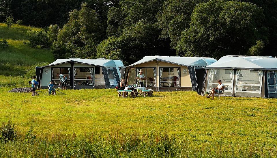 camping, outdoor, caravan