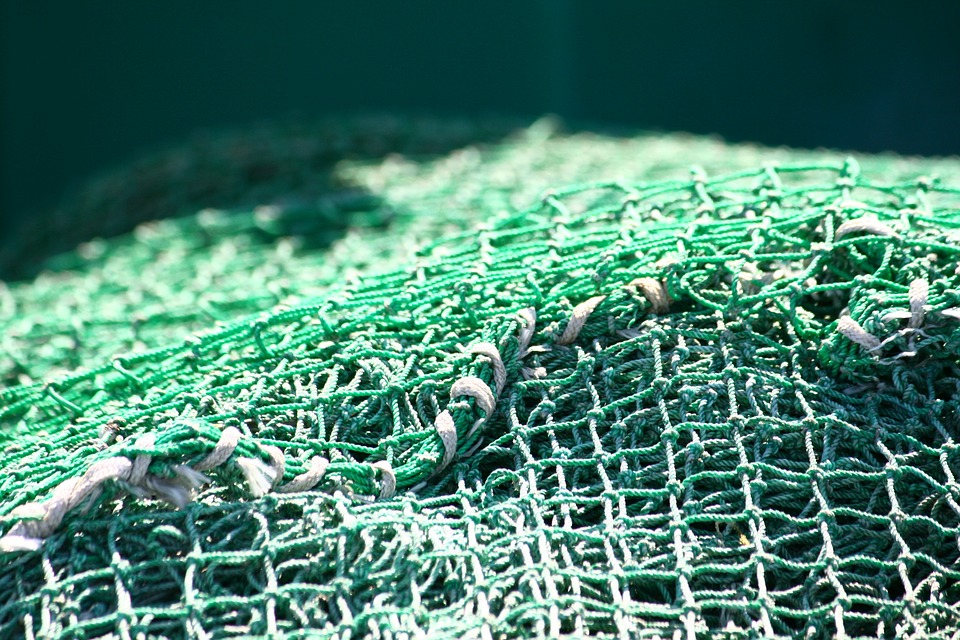 fishing industry, harbor atmosphere, fishing net