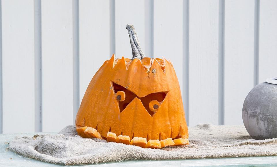 pumpkin, underbite, halloween