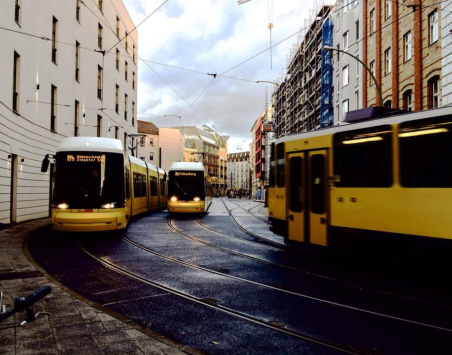 trams, berlin, public transport