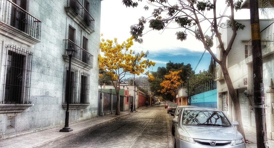 street, oaxaca, colonial