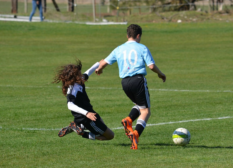 soccer, tackle, defense