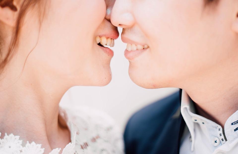 couple, beauty, kiss