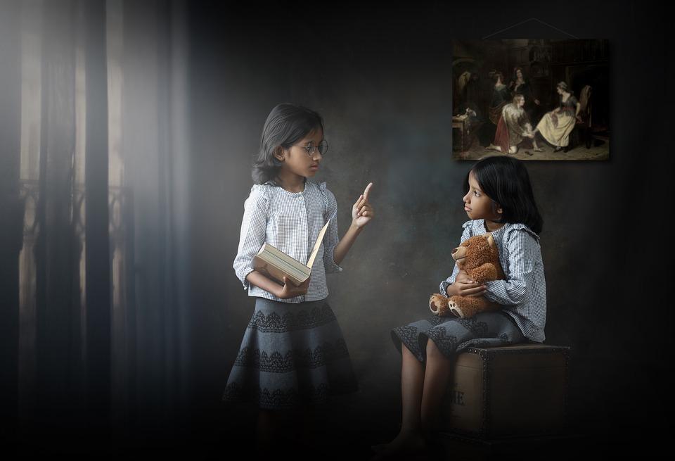 teacher, child, concept