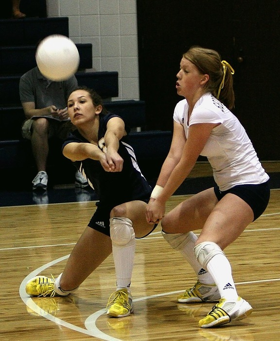 volleyball, female, players