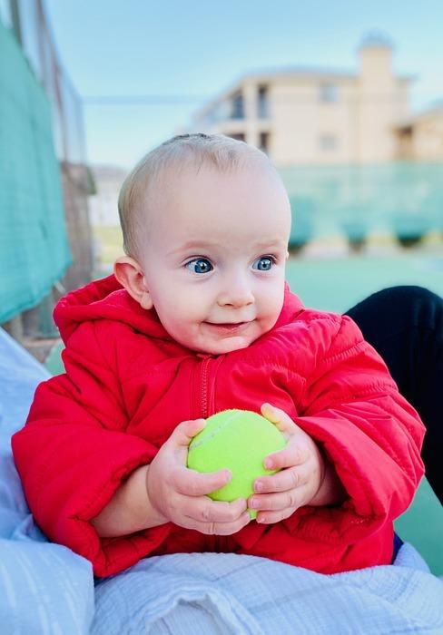 baby, ball, portrait