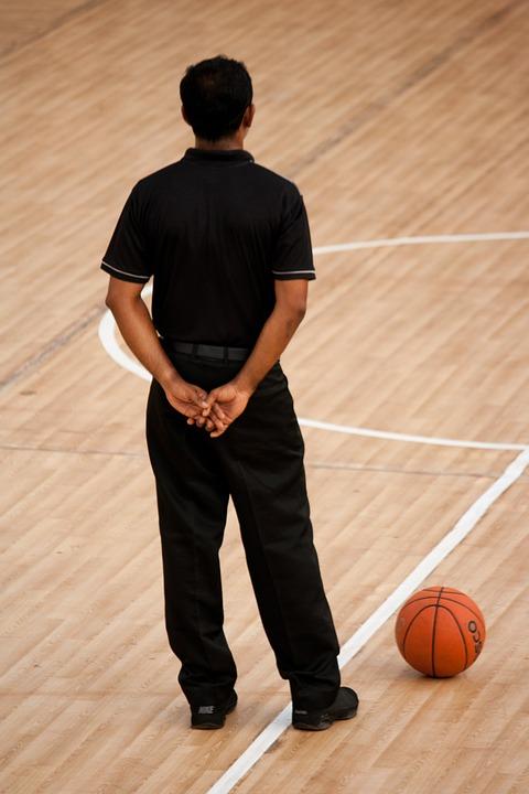 referee, basketball, game