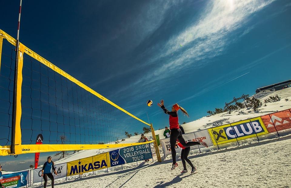 volleyball, snow volleyball, skivolleyball