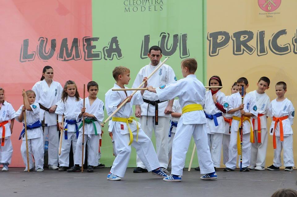 karate, martial arts, kids